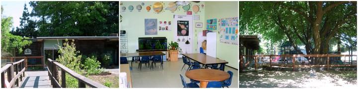 exterior and classroom
